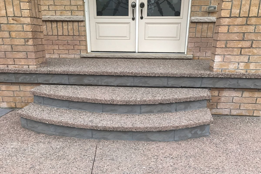 Concrete Steps, Exposed Aggregate Concrete Steps by Broadway Concrete & Landscaping in London Ontario