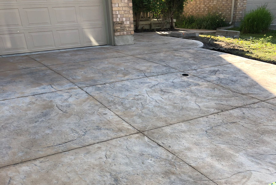 Stamped Concrete Driveway by Broadway Concrete & Landscaping in London Ontario