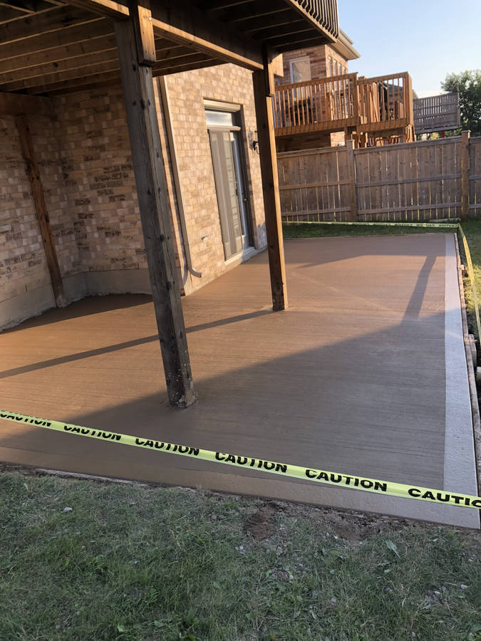 Coloured Concrete project in London Ontario region. Coloured Concrete Driveways, Walkways, Steps and Patios by Broadway Concrete and Landscaping Inc. in London Ontario and region.